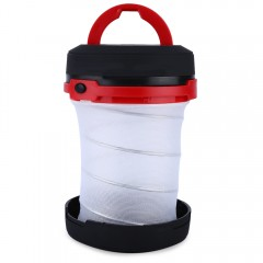 2 in 1 Portable Telescopic Camping LED Lantern Fla RED