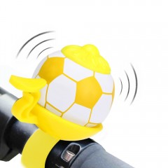 Football Shaped Bicycle Handle Bar Bell for Outdoo YELLOW