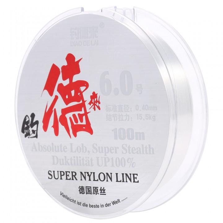 100M Clear Nylon Fishing Line Spool Beading String TRANSPARENT 6#
