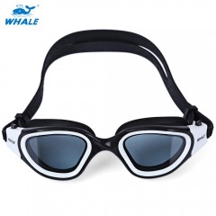 Whale Swimming Goggles Anti-fog UV Protection Swim WHITE