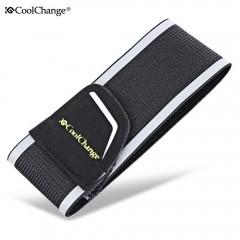 CoolChange Light Beam Leg Arm Belt Reflective Stra BLACK