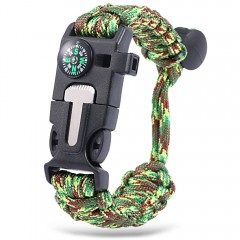 Multifunctional Outdoor Adventure Compass Whistle  JUNGLE CAMOUFLAGE