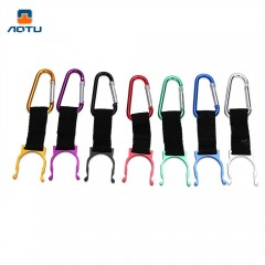 Aotu 5pcs Outdoor Water Bottle Holder Carabiner Ho COLORMIX