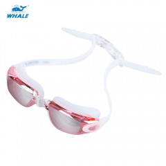 WHALE Adult Professional Swimming Anti Fog Water R PINK 7903