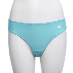 Women Sexy Hollow Out Heart Shape Thong Swimming B LAKE GREEN L