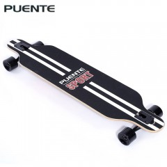 PUENTE Fashionable Long Skateboard Four-wheel Roll COLORMIX