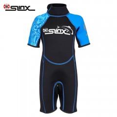SLINX 1616 2mm Short Sleeve Neoprene Wetsuit Child BLUE 2XL