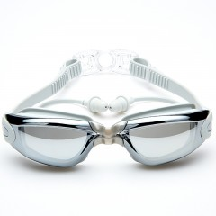 Swimming Goggles with Protective Case Nose Clip an GRAY
