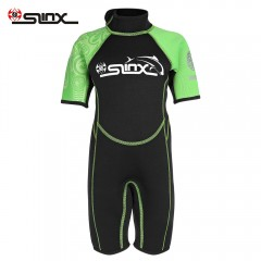 SLINX 1616 2mm Short Sleeve Neoprene Wetsuit Child GREEN S