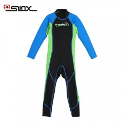 SLINX 1616 Long Sleeve Neoprene Wetsuit Child One- BLUE GREEN S