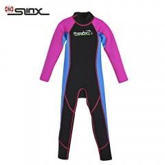 SLINX 1616 Long Sleeve Neoprene Wetsuit Child One- ROSE RED XL