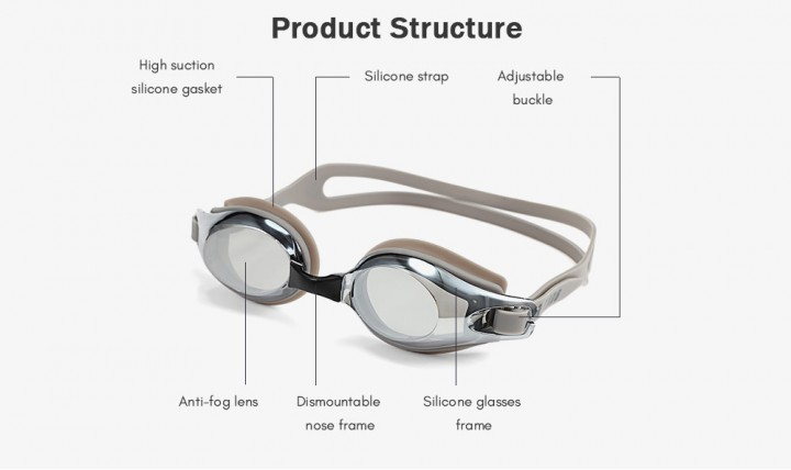 XinHang XH7610 Swimming Goggles with Anti Fog UV Protection