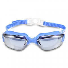XinHang XH5710 Swimming Goggles with Anti Fog UV P SKY BLUE