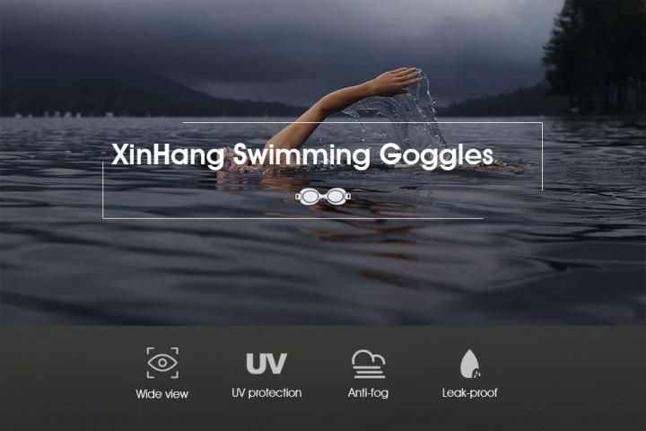 XinHang XH7600 Swimming Goggles with Anti Fog UV Protection