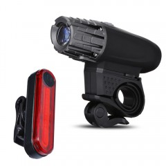 New Style USB Rechargeable 320 Lumen Bicycle Front BLACK