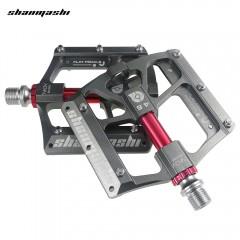 Shanmashi 4.6 Bike 6 Bearings Pedal Wide Non-slip  GRAY
