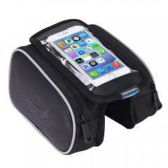Bicycle Mobile Phone Touch Screen Riding On The Fr BLACK
