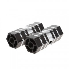 Paired Aluminum Alloy Hexagonal Column Rocket Bicy BLACK