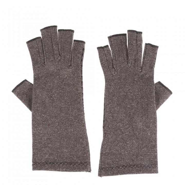 Pair of Compression Gloves Anti-slip for Arthritis GRAY M