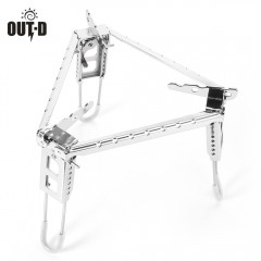 OUT - D Outdoor Cooking Camping Portable Folding S SILVER