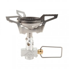 APG STO0045 Outdoor Anti-scald Camping Stove Porta SILVER