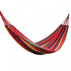 Outdoor Single Hammock Portable Canvas Stripe Swin MULTI-A 190 X 80CM