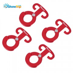 SHINETRIP 4pcs Aluminum Alloy Tent Hook for Picnic RED