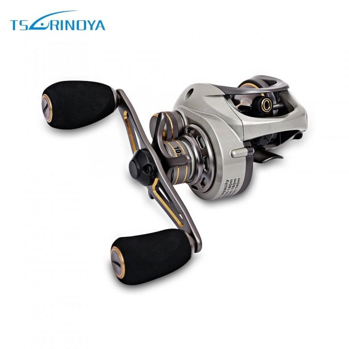 TSURINOYA CK150 9 + 1BB 6.6:1 Fishing Reel Dual Br SILVER LEFT