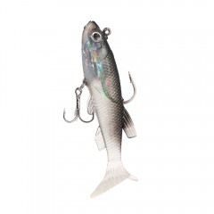 3D Eye Lead Artificial Soft Fishing Bait with Doub MULTI-A