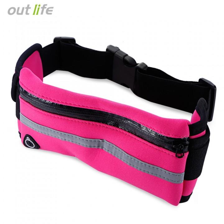 Outlife Outdoor Sport Water Resistant Running Bag  BLACK