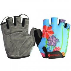 Gym Gloves Men Women Body Building Fingerless Fitn FLOWER M