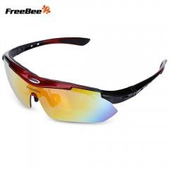 FreeBee 0089 Windproof Cycling Sunglasses Bike Gog RED WITH BLACK