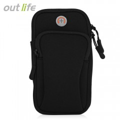 Outlife Gym Fitness Phone Outdoor Running Pouch Ar BLACK