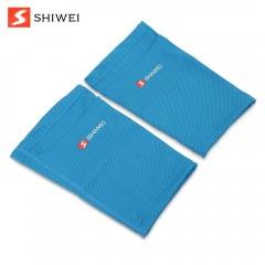 Shiwei Pair of Soccer Socks Shin Calf Sleeves for  BLUE M