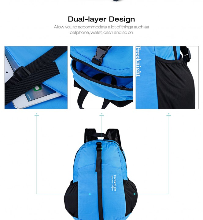 Free Knight FK0711 15L Portable Ultra-light Nylon Water-resistant Folding Backpack