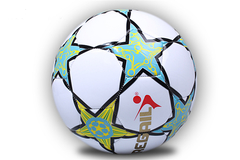 Regail Size 5 PU Machine Sewn Soccer for Teenager white