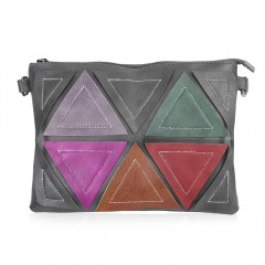 Guapabien Mixed Color Triangle Patchwork Style Clu HAWKSBILL