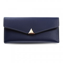 Guapabien Soft PU Leather Day Clutch Snap Fastener DEEP BLUE