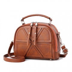 Simple Fashion Tassel Shoulder Diagonal Cross Bag BROWN