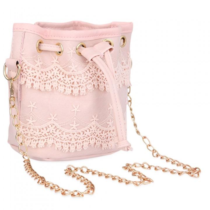 9d3de0a76c Guapabien Fashionable Pure Color Diagonal Chain Strap Drawstring Design Shoulder  Bag