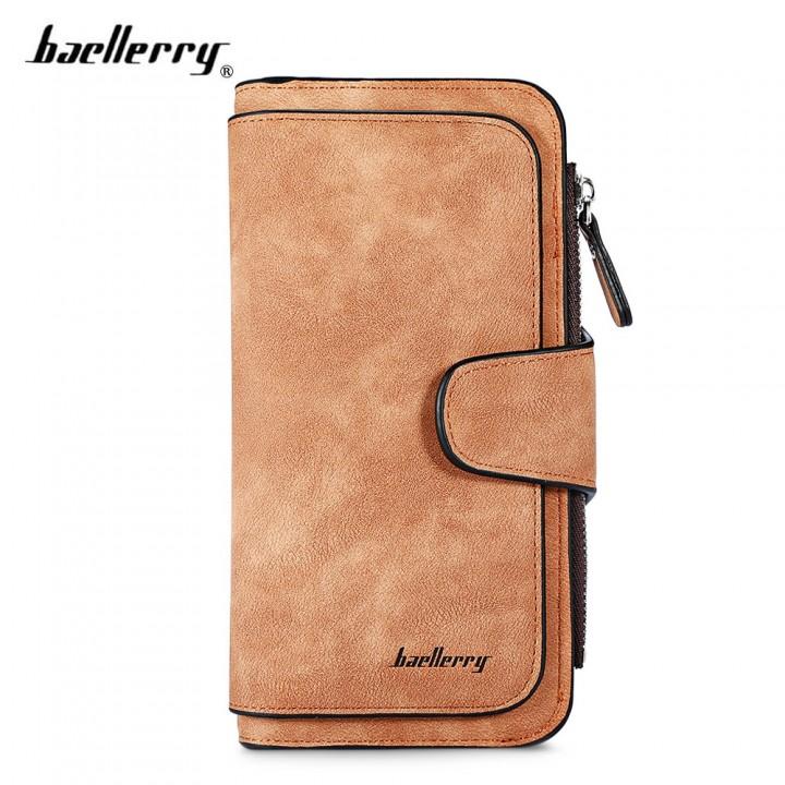 Baellerry Women Long Wallet PU Leather Clutch Card BROWN