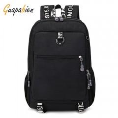 Guapabien Large Capacity Men's Travel Laptop Backp BLACK