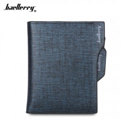 baellerry Fashionable Men Business Wallet with Det BLUE
