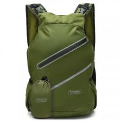WalkingToSky Backpacks Foldable Lightweight Waterp ARMYGREEN