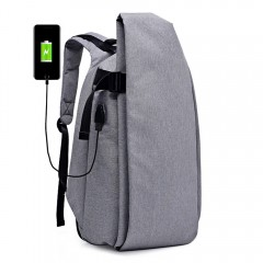 Men Anti-theft Business Large Capacity Backpack wi DARK GRAY