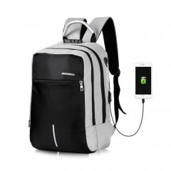 DINGXINYIZU Men Backpack Anti-theft Lock USB Charg GRAY