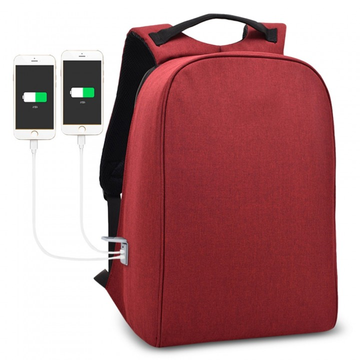 Men Business Anti-theft Male Large Capacity Backpa LAVA RED
