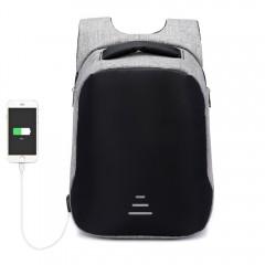 Anti-thief USB Charging Men Backpack Business Trav GRAY VERTICAL