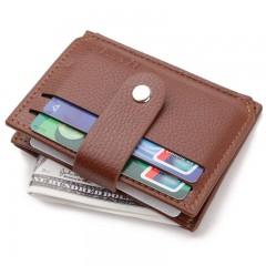 Business Men Wallet with Zipper Coin Pocket Design LIGHT BROWN