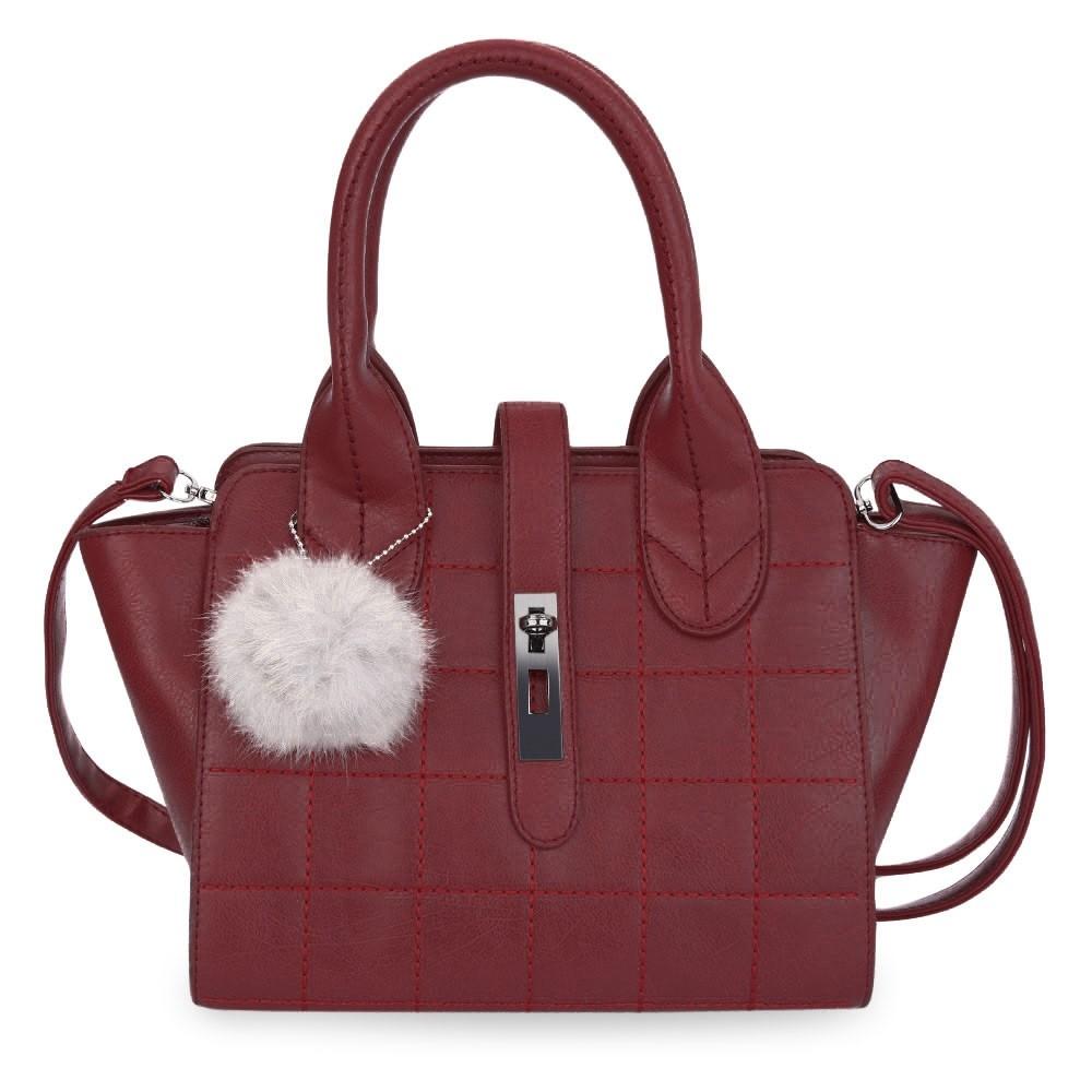 a70f47ebf2b7 Item specifics  Seller SKU C6PDAUYVI  Brand  Women Geometric Plaid Rivet  Hairball Twist Lock Handbag Tote Shoulder ...